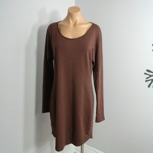 Peruvian Connection Brown Dress Knit Size M